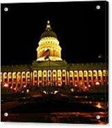 Capital Building In Utah Salt Lake City Acrylic Print