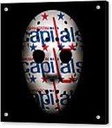 Capitals Goalie Mask Acrylic Print