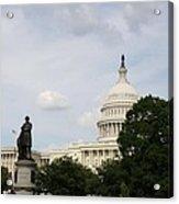 Capitol And Statue Washington Dc Acrylic Print