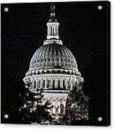 Capitol At Night Acrylic Print
