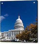 Capitol Building Autumn Foliage  Acrylic Print