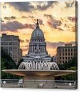 Capitol Building In Madison Wisconsin Acrylic Print