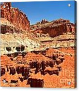 Capitol Reef Twin Towers Acrylic Print