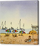Capitola - California Sketchbook Project  Acrylic Print by Irina Sztukowski