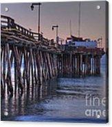 Capitola Wharf At Dusk Acrylic Print