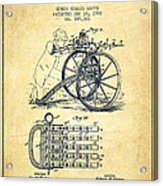 Capps Machine Gun Patent Drawing From 1902 - Vintage Acrylic Print