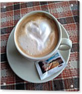 Cappuccino Love Acrylic Print