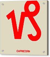 Capricorn Zodiac Sign Red Acrylic Print