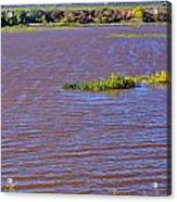 Caprock Canyon-lake Scenic Acrylic Print