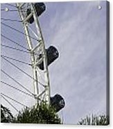 Capsules And Structure Of The Singapore Flyer Along With The Spokes Acrylic Print