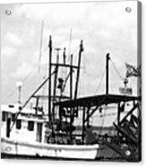 Capt. Jamie - Shrimp Boat - Bw 02 Acrylic Print