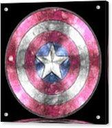 Captain America Shield Digital Painting Acrylic Print