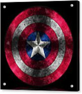Captain America Shield Acrylic Print