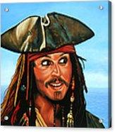 Captain Jack Sparrow Painting Acrylic Print