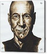 captain Jean Luc Picard Star Trek TNG Acrylic Print by Giulia Riva