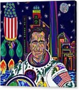 Captain Mitt Romney - American Dream Warrior Acrylic Print by Robert SORENSEN