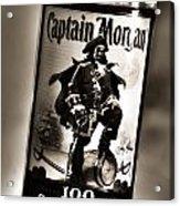 Captain Morgan Black And White Acrylic Print