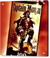 Captain Morgan Red Toned Acrylic Print