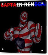 Captain Renegade Super Hero Combating Crime Acrylic Print