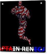 Captain Renegade Super Hero Jumping Karate Kick Acrylic Print