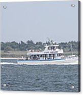 Captree's Captain Gregory Heading Out To Sea Acrylic Print