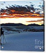 Capturing The Sunset Acrylic Print