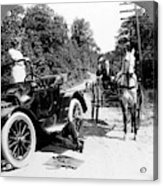 Car And Carriage, 1914 Acrylic Print