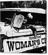 Car And Driver In Helldorado Days Parade In Tombstone Arizona 1967 Acrylic Print