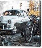 Car And Sidecar Acrylic Print