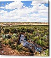 Car Door In The Desert Acrylic Print