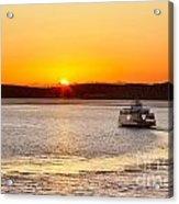 Car Ferry Leaving Steilacoom Acrylic Print