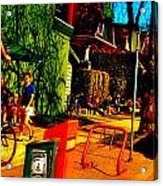 Car Free Day Hijinx Acrylic Print