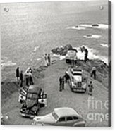 Car Over Edge On Highway One  Big Sur  California    March 27 1947 Acrylic Print