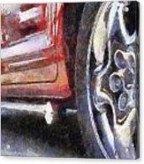 Car Rims 02 Photo Art 02 Acrylic Print