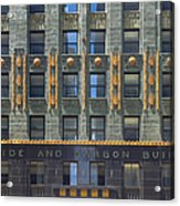 Carbide And Carbon Building Acrylic Print by Adam Romanowicz