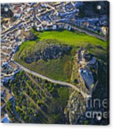 Carcabuey Castle From The Air Acrylic Print