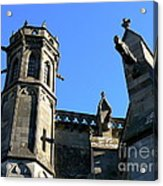 Carcassonne's Cathedral Acrylic Print by France  Art