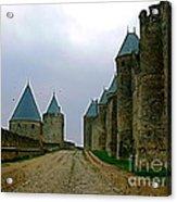 Carcassonne Walls Acrylic Print by France  Art