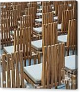 Cardboard Cathedral Chairs Acrylic Print