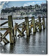 Cardiff Bay Old Jetty Supports Acrylic Print