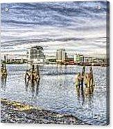 Cardiff Bay Towards St Davids Hotel Acrylic Print
