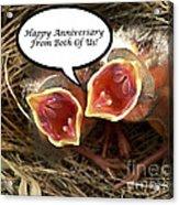Cardinals Anniversary Card Acrylic Print
