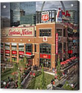 Cardinals Nation Ballpark Village Dsc06176 Acrylic Print