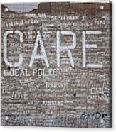 Care In Detroit  Acrylic Print