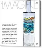 Carey Chen Big Chill Vodka By Jimmy Johnson Acrylic Print