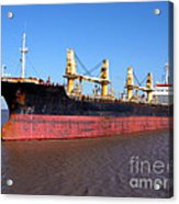 Cargo Ship Acrylic Print by Olivier Le Queinec