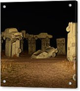 Carhenge At Night Acrylic Print