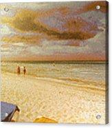 Caribbean Beach Acrylic Print by Odon Czintos