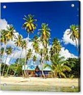 Caribbean Beach Shack Acrylic Print