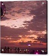 Caribbean Cruise Light Show Acrylic Print